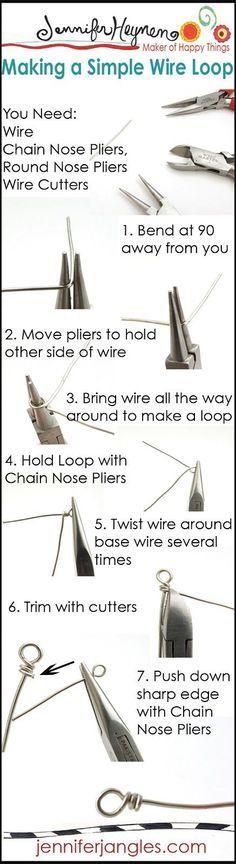 Jewelry Making Basics : Making A Simple Wire Loop #jewelrymaking