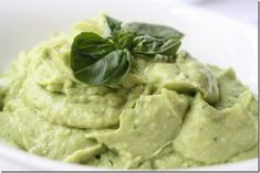 Vegan Alfredo -- avocado based Alfredo cream sauce to eat with (or without) your favorite pasta.