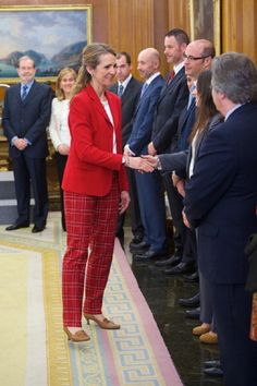 Infanta Elena of Spain receives 'Un Juguete, Una Ilusion' Foundation members at the Zarzuela Palace on 4  April 2013