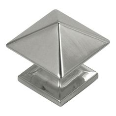 Hickory Hardware 1-1/4-in Bright Nickel Studio Square Cabinet Knob