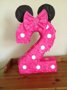 Piñata number 2 minnie mouse inspiration. by AnaIsabelCreations, $40.00