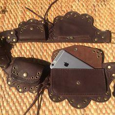 Leather Utility Belt | Fanny Pack | Festival Hip Bag | Pouch - LOTUS