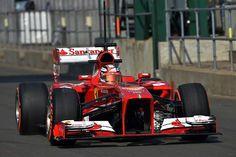 f1 Muy buena foto de la Ferrari F138 del piloto Italiano Davide Rigon durante el YDT de este día en Silverstone