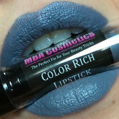 MBA Cosmetics Color Rich Lipstick: Fog'et About It #Lips #Swatch #LipSwatch #LipstickSwatch #Makeup #Beauty