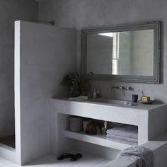 1000 images about badkamer on pinterest concrete bathroom bathroom and met - Idee voor de badkamer ...