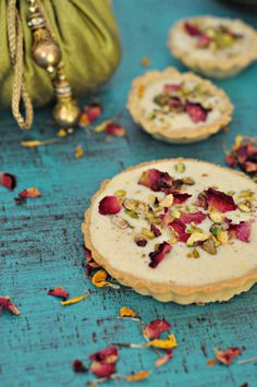 Kesar Phirni Tartlets   Saffron and Rice Pudding Tartlets Recipe   sinamontales