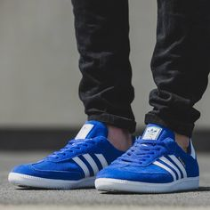 adidas Originals Samba  Royal Blue Suede Sneakers 584d91a54