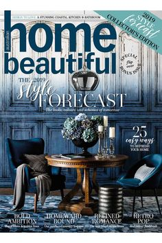 Home Beautiful October 2018 flip-over issue Beautiful Cover, Get Excited, Coastal, October, Chairs, Romance, Colours, Retro, Amazing