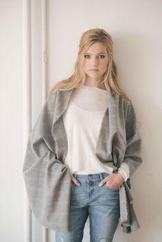 Gris Plaid manta bufanda bufanda de lana gris gris por stansberry