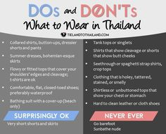 Dos and Don'ts: What to wear in Thailand