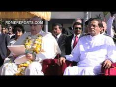 Un coro de niños canta tierna canción de bienvenida al Papa en Sri Lanka