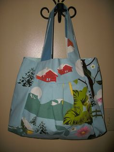 Winter Outdoor Print Hand bag by rebeccaanndesigns on Etsy, $40.00
