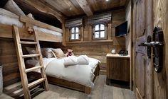 Einbau-Bett mit Leiter – Einrichtungsideen im Stil Berghütte