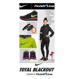 """Nike Total Blackout"" by lachompi09 ❤ liked on Polyvore"