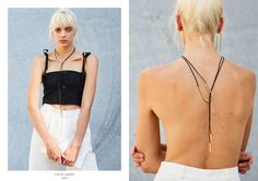 A lasso made from black leather rope featuring an oval loop hand-forged from brass. The Lasso takes us back to a time running off with cowboys exploring vast open space and golden sunsets. Collections Photography, Hair Makeup, Campaign, Camisole Top, Black Leather, Mary, Tank Tops, Model, Style