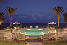 EAU PALM BEACH RESORT & SPA Manalapan, Florida, United States, Tranquility Pool Night