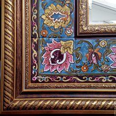 Купить Зеркало Голубой персидский ковер - зеркало, зеркало настенное, зеркало ручной работы