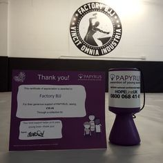 Great work guys! Your spare change has raised almost 40 to help prevent suicide - thanks everyone! The tin is next to the drinks fridge be sure to throw a few coins in when you can. Papyrus are an amazing charity doing great work across the UK. #BJJ #FactoryBJJ #Papyrus #BJJinManchester