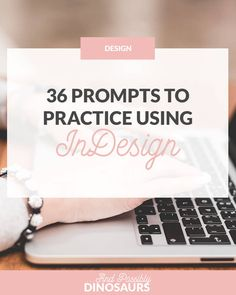 Using InDesign isn't too complicated, it just takes practice! So pick out a few prompts and see what you can create. Graphic Design Tools, Graphic Design Tutorials, Tool Design, Graphic Design Inspiration, Web Design, Design Posters, Design Trends, Design Ideas, Typography Layout
