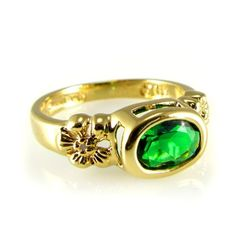Jacqueline Kennedy's Gold and Emerald Pinky Ring