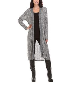 Look what I found on #zulily! A La Tzarina Heather Gray Long Open Cardigan - Plus by A La Tzarina #zulilyfinds