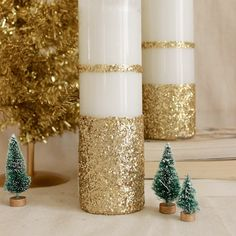 If you're itching to DIY this holiday, break out the bucket of glitter,