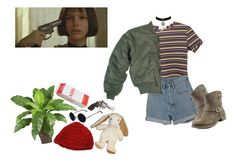 """""""Mathilda- Léon the professional"""" by ihatepe0ple ❤ liked on Polyvore featuring PèPè, Smith & Wesson, Report, Luli, women's clothing, women's fashion, women, female, woman and misses"""