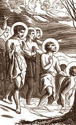 The Forty Holy Martyrs of Sebaste, a group of forty soldiers who suffered a martyr's death for their steadfast faith in Christ, by freezing in a lake near Sebaste, in the former Lesser Armenia (now Sivas in central-eastern Turkey). #Catholic #Pray #Lent