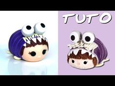 Tsum Tsum in a cookie monster costume clay tutorial
