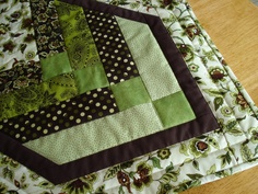 Quilted Table Runner in Metro Blue Goes Green