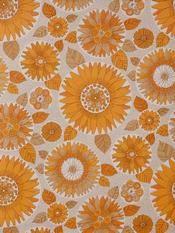 Floral orange wallpaper as seen on frou-frou.dk