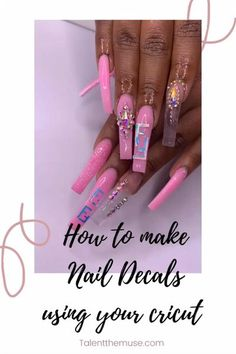Do you love my nails? I know I do! I'm going to tell you about a very talented black artist who created this design. It's my little sister. The ✨TALENT✨ runs in the family. I am so proud of her. I will be covering how to make the decals for your nails but if you are interested in learning from the best nail artist around, follow Brelatoyabeauty on IG #cricut #cricutmaker #nailart #blacknailartist #atlanta #coffinnails