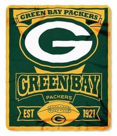 "NFL Green Bay Packers Team Marque Fleece Throw blanket 50"""" x 60"""" by Northwest"
