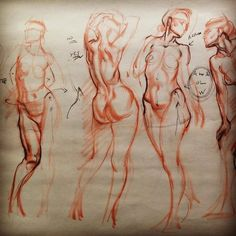 Page of 5 min quick sketch Demonstrations at Art Mentors... Figure Drawing tips n tricks for rhythm and volume. September 04, 2016 at 0453PM.jpg