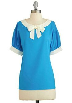 Modern Madeline Top in Aqua...it'd be cute in a different color too