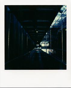 Intérieur du MuCEM #polaroid #Marseille #musée #couloir #architecture #darkness #SX70 #MuCEM / www.marseillepolaroid2013.com