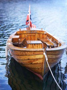 natural wood boat
