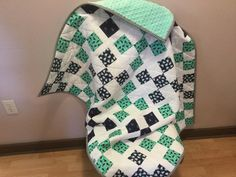 Little Whale Sprout Baby Quilt by SewBabySewCreations on Etsy
