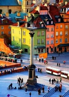 Colorful Buildings - Warsaw, Poland Travel Travelling For Information Access our Site http://storelatina.com/travelling #perjalanan #podróż #vojaĝado #viaggio #putovati #pagbiyahe