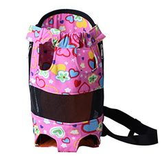 Yicat Lovely Pet Dog Carrier Five Holes Front Chest BackpackPinkHeart Medium ** Want to know more, click on the image.(This is an Amazon affiliate link and I receive a commission for the sales)