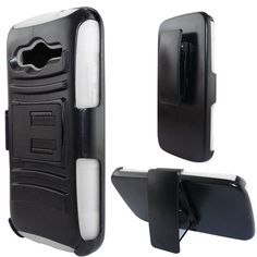 Insten Advanced Armor Dual Layer Hybrid Stand PC/ Silicone Phone Case Cover With Holster For Samsung Galaxy Avant (/) #1946459