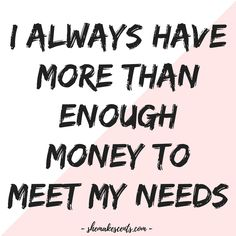 Money Affirmations to Manifest Abundance from Personal Finance Blog for Women, She Makes Cents | Law of Attraction #ManifestMiracles