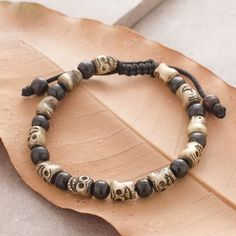 """Wear this Brass Skull Bracelet as a daily reminder of the impermanent nature of all things; Do not squander today for there may be no tomorrow. Engage in virtuous and meaningful acts to enhance your life and others. Comment """"sold"""" followed by your email address to get a link to this dress delivered to your inbox! #spiritualjewelry #spiritual #skulls #brass #yogalifestyle #fashion #yoga #fairtrade"""