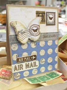 "Too cute. Butterfly ""air mail"". Too punny : )"