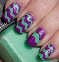 purple and green #chevron stripes