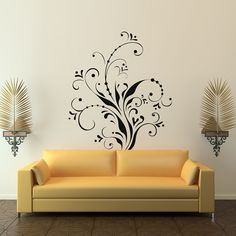 images about Floral Wall Decals on Pinterest