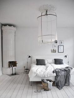 kakelugn in slaapkamer