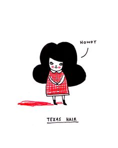 The higher the hair, the closer to heaven! ;) | via My Sketchbook by Gemma Correll