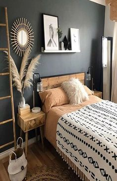 Interior decoration is really an art. Cozy Bedroom, Bedroom Inspo, Home Decor Bedroom, Modern Bedroom, Interior Exterior, Interior Design, Home And Deco, Bedroom Styles, Cozy House