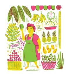 Image result for fruit catalogue-style illustrations